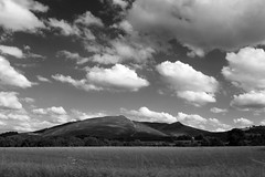 21st July 2016 (lucyphotography) Tags: hill hills perthshire scotland black white fluffy clouds