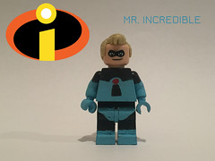 Mr. Incredible-Blue Costume (alansb911) Tags: lego incredible mr custom alansb911