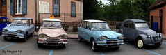 Citron Ami6 Break (x2) Berline et 2CV (fangio678) Tags: expo wasselonne 15 05 2016 voiture voituresanciennes ancienne collection cars classic coche oldtimer youngtimer citron ami6 break berline 2cv french francaise