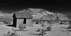 the loneliest man in the world... (BillsExplorations) Tags: ghosttown rhyolite nevada desert mountains shack abandonedhouse forgotten decay lonely isolation nationalregisterofhistoricplaces blackandwhite monochrome mining goldrush