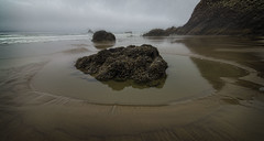 Rock pool at Arch Cape (retsoced) Tags: nw oregon pacificnorthwest coast beach basalt cloudy lowtide
