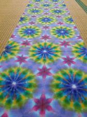sarashi tenugui itajime psychedelica (asiadyer) Tags: japan japanese shibori itajime sacred sacredgeometry sarashi tenugui textile tiedye scarf