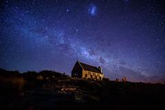 Church of the Good Shepherd (tom.ye) Tags: night sky church new nz stars longexposure laketekapo newzealand tekapo goodshepherd churchofthegoodshepherd