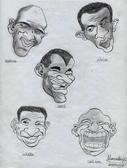 CHARGES - Os Heris Do Penta (Artemarcello - Criaes e Design -) Tags: artemarcello desenhosalpisgrafite charges marcos jnior caf luizo edilson