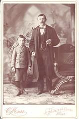 Father & Son In Joliet (ilgunmkr - Mourning The Loss Of My Wife Of 52 Year) Tags: cabinetcard victorian victoriangentleman littleboy illinois illinoisphotographers jolietillinois willcountyillinois 1890s 19thcentury murr cmurrphotographer