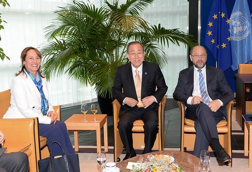 Meeting with Ségolène Royal, President COP21 and Ban Ki-Moon, UN Sec.Gen