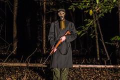 Occupation Ville (Merrill_Sampson_Fotography) Tags: art is bread war life black white blackandwhite gun gas mask gasmask grunge grungy