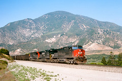 Coal train on Cajon (jwjordak) Tags: milepost coaltrain 244 sp ac4400cw unittrain mountain southernpacific train sanbernardino california unitedstates us
