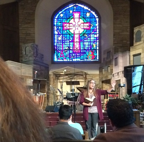 Jen Howat preaching in Edmond, Oklahoma by Wesley Fryer, on Flickr