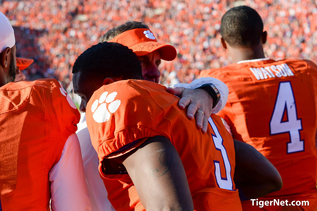 Clemson Photos: Artavis  Scott, Chad  Morris, 2014, South  Carolina, Football