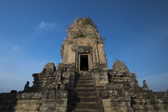 A Heavenly Ascent to the Pre Rup Temple, Angkor Archaeological Park, Cambodia (Thainlin Tay) Tags: park blue sky tower stairs temple climb ancient cambodia heaven ruin angkor archaeological prerup