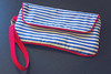 Nautical Envelope Clutch (katilimade) Tags: blue red white sewing snap gift clutch nautical piping fo noodlehead sewn finishedobject wristlet envelopeclutch