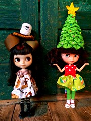 Karli: Kitty I thought I told you  to decorate our Christmas tree! Why do you have a tree on your head?Kitty: You didn't say which tree Karli!
