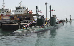 This is a photo released by the Iranian Defense Ministry which they claim shows Iran's Ghadir submarines in the southern port of Bandar Abbas in Persian Gulf, Iran, Sunday, Aug. 8, 2010. Iran's state media say the country's navy has taken charge of four n (Imre.Uhrin) Tags: bandarabbas irn