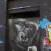Le gorille, street art, ancienne caserne Niel, quai de Queyries, La bastide, Bordeaux, Gironde, Aquitaine, France.