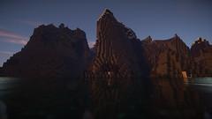 Königsfelsen (Minecraft Wallpaper) Tags: wallpaper strand landscape mond wasser nebel ambient hd aussicht landschaft sonne schatten baum umgebung dner fullhd gronkh taddl minecraft pewdiepie sarazar herrbergmann pietsmiet thediamondminecart ungespielt