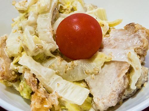 ザンギ白菜サラダ