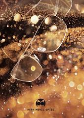 Herr Menig Optik - Gold (Philipp Zurmoehle) Tags: christmas xmas glitter illustration germany festive gold glasses golden photo frames ad illustrations card german funk sparkly campaign glittery sparkling nürnberg optician eyewear 2014 optik herrmenig herrmenigoptik