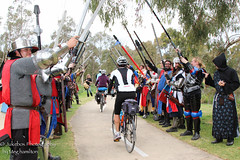 A Guard of honour for the Cavalry! (Megspics .) Tags: action bikes games humour medieval fantasy archers swords elves swordcraft humpdayhumorwedposts battleknights
