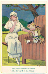 Reward of the Brave (pepandtim) Tags: road old france west station daddy french army sussex early office worthing mac post audience postcard small wounded stamp nostalgia betsy nostalgic brave service british nurse heller mummy reward caption oval postale active carte 1917 comforts disheartening censors tarring 12081917 88rtb98
