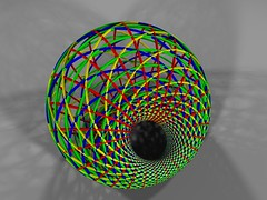 The Four Families of Circles on a Dupin's Cyclid (fdecomite) Tags: geometry math povray dupin cyclide villarceau