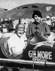 Cummings - Wild Bill Jan 1, 1933 Winner Helmet Dash Ascot Spdwy - with European Entertainer Mada Borks in town (clamshack) Tags: california two people usa sports losangeles vehicle northamerica prominentpersons twopeople losangelescounty pacificstates motorvehicle