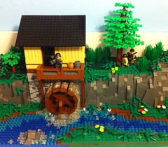 The Mill (tyfighter07) Tags: france mill lego nazi wwii normandy watermill paratroopers moc brickbuilder7