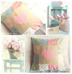 Almofada corao (AnnCrafts Artesanato) Tags: vintage pillow cotton romantic patchwork tilda decorao almofada algodo almofadas