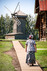 A windmill in the museum of wooden masterpieces, Suzdal, Russia (travelingmipo) Tags: travel people windmill museum architecture photo wooden europe russia  suzdal 2014 goldenring
