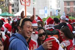 SF Santacon (shaire productions) Tags: christmas street xmas city people holiday smiling fun happy costume candid seasonal joy event santacon metropolis cheer sfsantacon