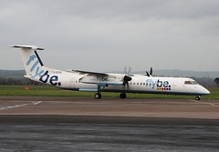 G-ECOO Dehavilland Dash 8 Q-400 'Flybe'  @ Exeter International Airport. (PoSm Photography) Tags: airport 8 atlantic international devon dash exeter thomson gateway boeing airways titan airlines 190 embraer dehavilland 737800 flybe q400 gfbea gecoa gzapw 737301 egte gflbe kalstar gtawf gjmcu