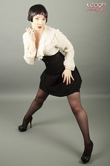 IMG_2622 (Neil Keogh Photography) Tags: white black stockings female highheels gothic skirt blouse heels glam suspenders burlesque laces corsets studioshoot stockingssuspenders modelzoe