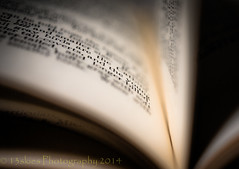 Printed words (13skies) Tags: macro ink book words leaf dof close pages pov bind printedwords