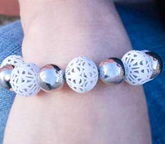5th Avenue White Bracelet K1 P9409-2 (2)