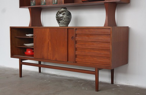 Danish Floating Credenza : Mid century living penelope danish modern side chest cabinet