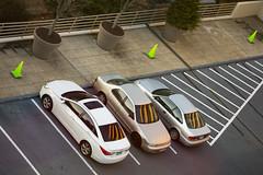 car park (Homemade) Tags: reflection cars lines norwalk connecticut sony ct fairfieldcounty merritt7