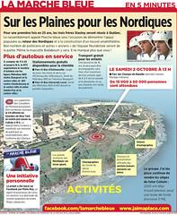 La marche bleue : Sur les Plaines pour les Nordiques (stahlmandesign) Tags: design montral graphic journal qubec infographie marche infographic bleue nordiques 5minutes