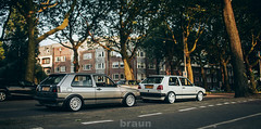 Amsterdam with the MkII's (Rick Bruinsma) Tags: rabbit amsterdam golf volkswagen static alfa braun zuid stance ronal nothelle perfectstance stanceworks stancedout