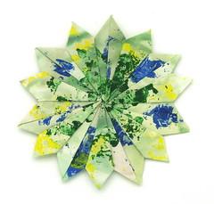 Fujimoto heptagon Rosette 37 front (Pliages et vagabondages) Tags: star origami rosette décoration étoile fujimoto