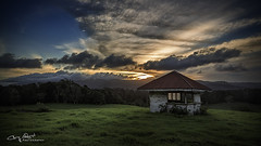 Nothing is as far away as one minute ago. (Christolakis) Tags: sunset green clouds australia hut queensland paddock springbrook