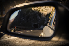 On the road 3 (Lifeinpicture) Tags: road reflection tunnel curve ontheroad umbria rearmirror