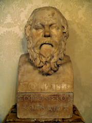Rome090212-19m (LecteurPL) Tags: sculpture rome italie documents grec buste philosophe socrate