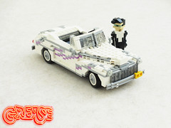 Grease Ford Deluxe (Mad physicist) Tags: ford car lego deluxe grease american johntravolta greasedlightning