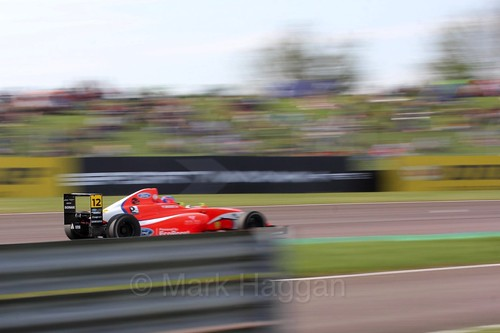 Ayrton Simmons in British Formula Four at Thruxton, May 2016