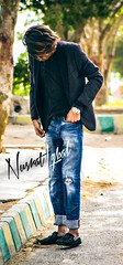 Nusrat Iqbal (themj_productions) Tags: blue pakistan boy fashion watches posing clothes jeans photograph denim damaged karachi hairstyle modelling stitched rolex lv hairs louisvuitton nusrat iqbal hairmenstyle