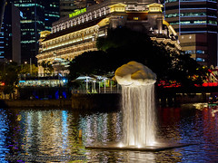 Cloud Nine: Raining, Tan Wee Lit (Singapore) Mar '16 (knowenoughhappy) Tags: cloud night marina river hotel bay singapore district nine central tan business wee cbd lit raining financial fullerton 2016