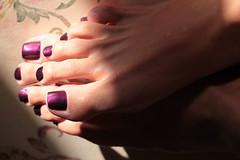 In Haven (IPMT) Tags: haven sexy feet metal fetish foot zoya toes purple painted violet plum polish barefoot barefeet pedicure nailpolish uva liquid grape toenails brilliance violeta toenail morado pedi descalza
