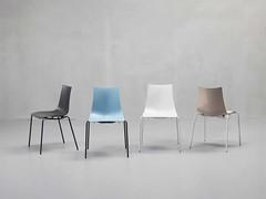 Sedia policarbonato colorato pieno e acciaio (Mondo Arredamento) Tags: sedia cucina acciaio soggiorno policarbonato