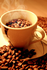 Kaffee (DanielHiller) Tags: tasse kaffee dampf bohnen kaffeebohne lffel cup coffee brown braun