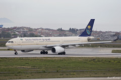 Saudi Arabian Airlines A330-300 HZ-AQA (birrlad) Tags: turkey airplane airport ataturk taxi aircraft aviation airplanes istanbul international airline airbus saudi arabian jeddah airways airlines departure ist takeoff runway a330 airliner departing taxiway a333 a330300 a330343 hzaqa sv256